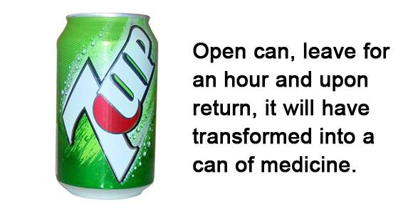 Medicine in a can