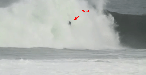 Peter Craig at Mullaghmore Head Ireland Worst Wipeout Nominee Surfer Poll 2013