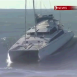 7 News – Surfing On A Wave Of 5m With A Cruising Catamaran