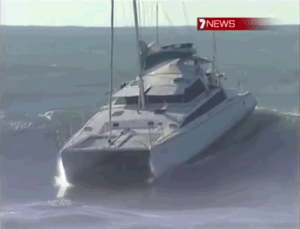 Video - Surfing On A Wave Of 5m With A Cruising Catamaran