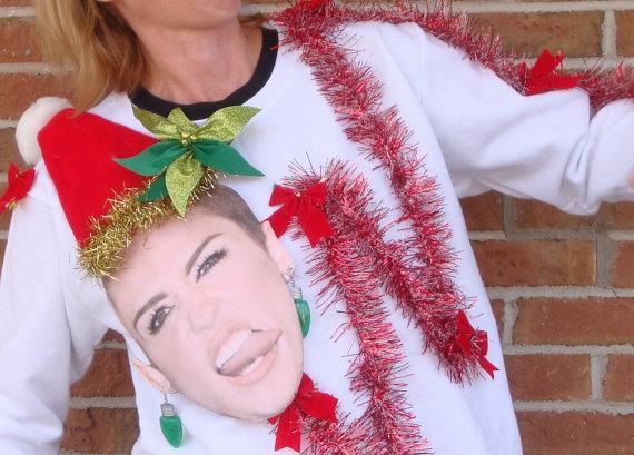 Miley Cirus Christmas Jumper