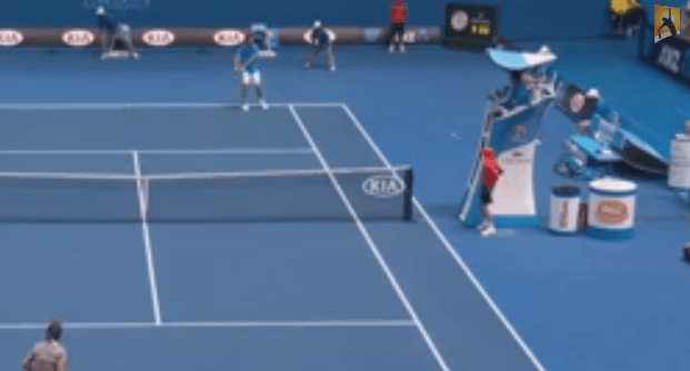 Ball Kid gets hit in the face 2014 Australian Open YouTube