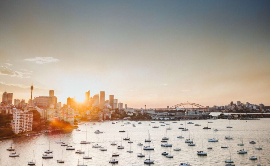 Sunrise in Sydney harbour