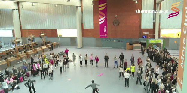 Shannon Airport Flashmob YouTube