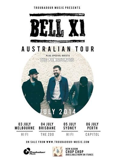 Win 2 Free Tickets To BellX1 On Their Upcoming Australian Tour!