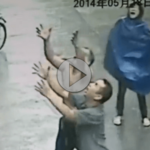 Man Saves Falling Baby With Amazing Catch