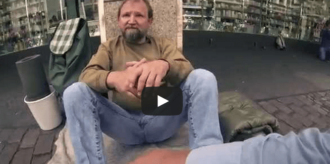 A Young Man Asks A Homeless Man To Borrow His Bucket What Happens Next Will Make You Burst Into Tears