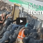 Mans Leg Gets Stuck Next To Train At Stirling Station In Perth
