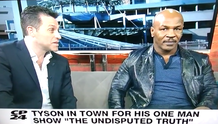 Classic Mike Tyson Interview on CP24 YouTube