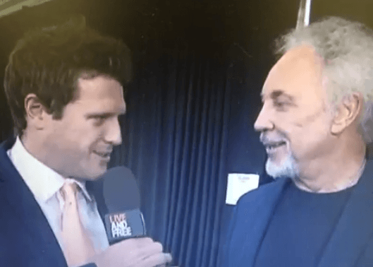 "sounds like Tom Jones called an Australian sports presenter ""a d***head"" live on-air"