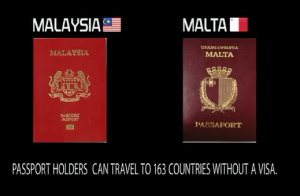 9th Most powerful passport in the world: Malaysia and Malta
