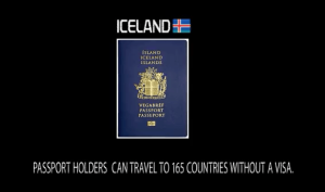 8th Most powerful passport in the world: Iceland