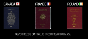 4th Most powerful passport in the world: Ireland Canada France