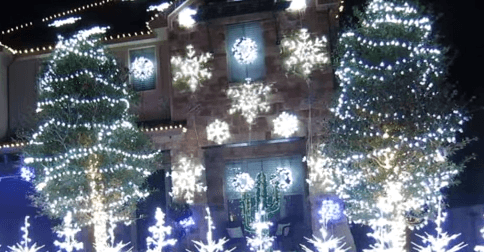 Frozen Christmas Lights Let It Go 2014 YouTube
