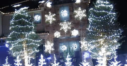 Frozen Christmas Lights Let It Go 2014 YouTube