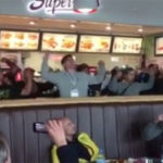 "Kiwi Students Belt Out ""HAKA"" In Middle Of Ireland Fast Food Shop"