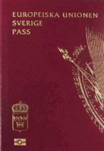 9th Most powerful passport Sweden