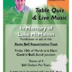 Table Quiz & Live Music in Memory of Luke McMahon (Sydney)