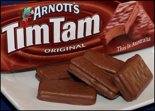 Australian food slang what are tim tams