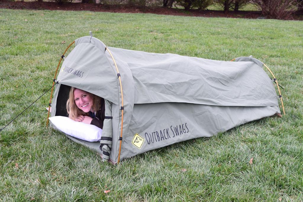 outdoor swag tent australian slang