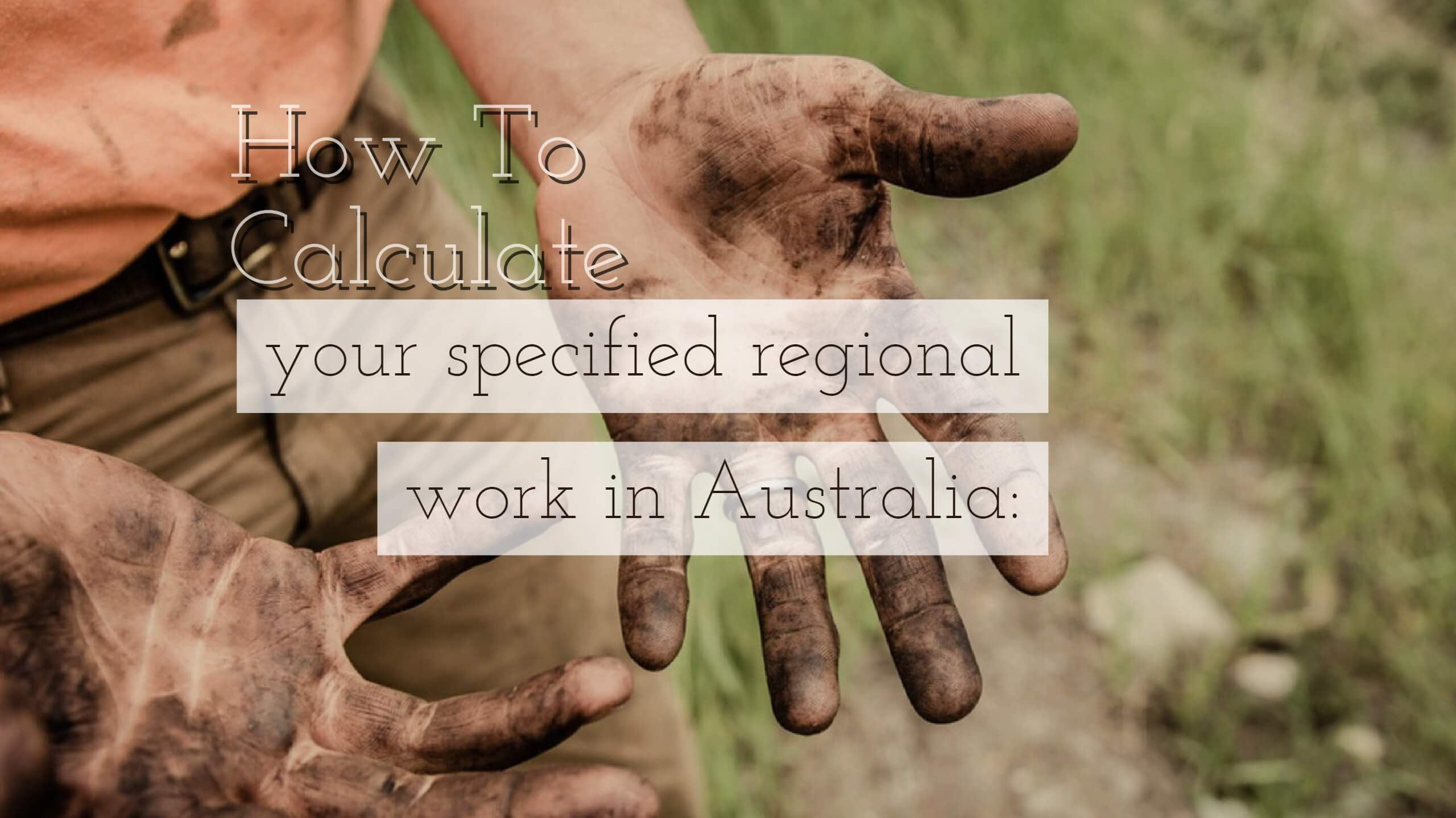 How do you calculate your regional work in Australia