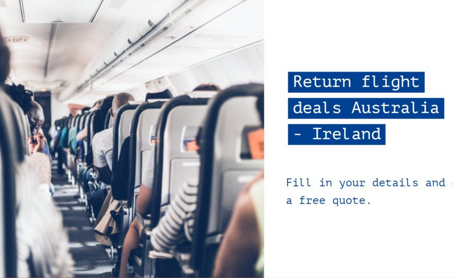 return flights Australia to Ireland