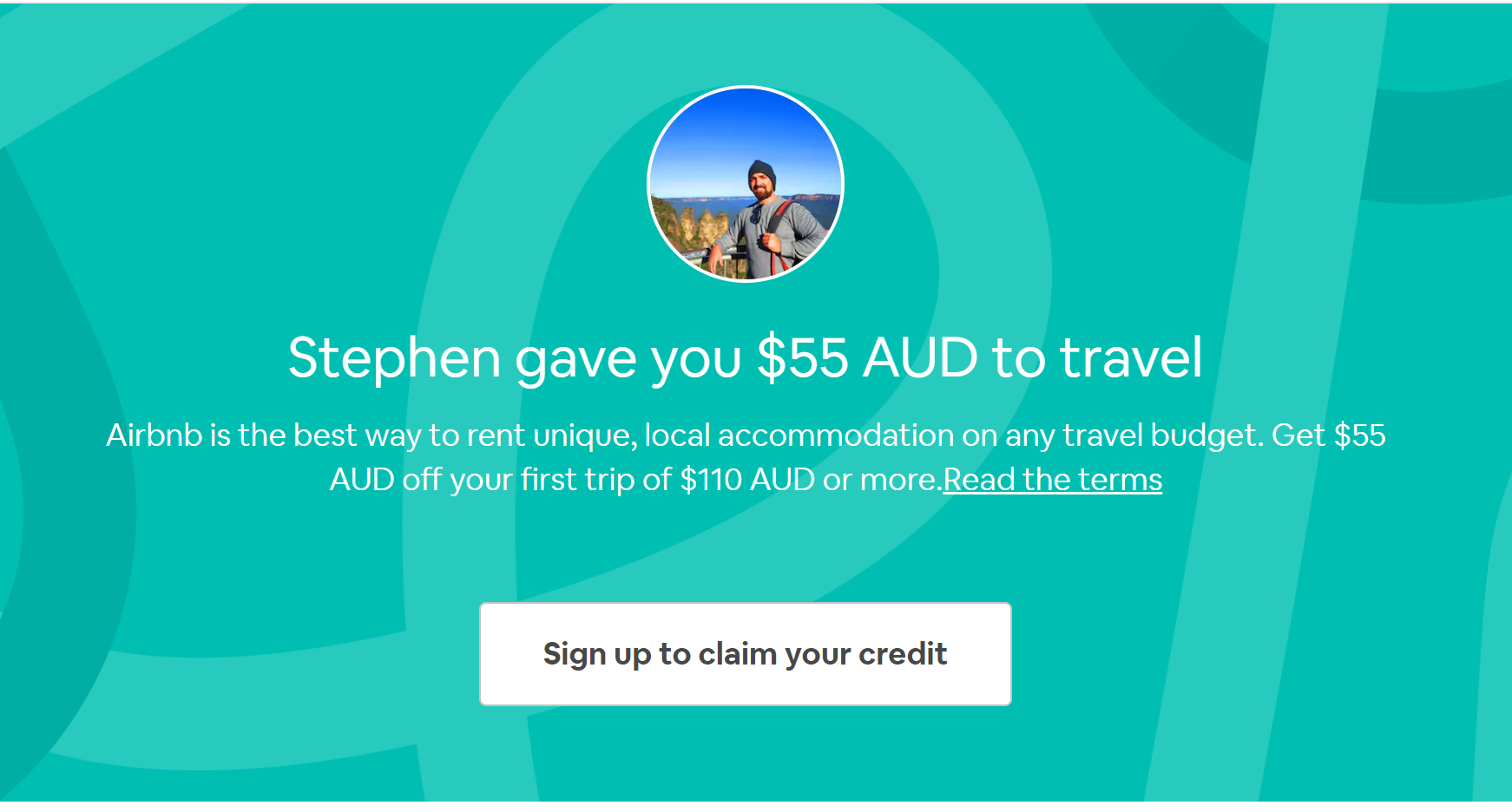 Airbnb coupon in Australia Get $55 AUD off your first adventure