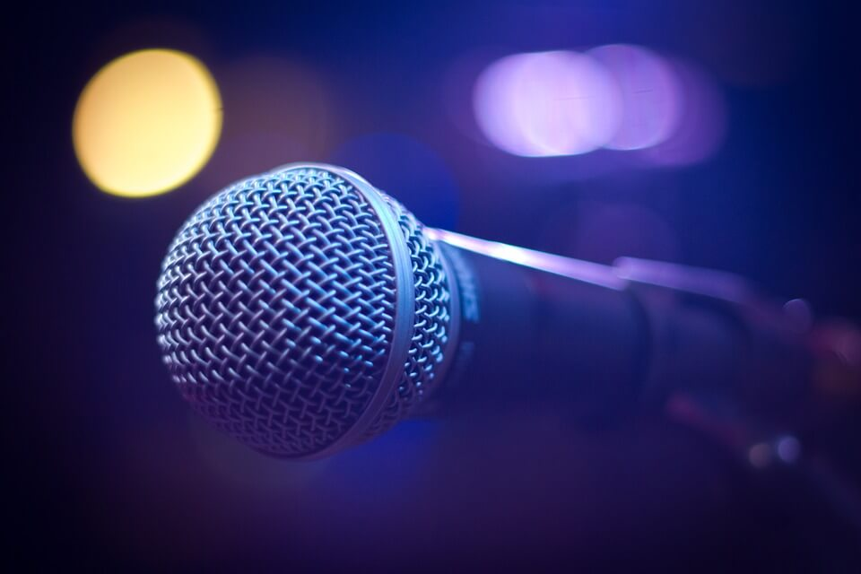 Picture of a microphone poetry in Australia