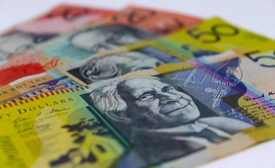 Picture of Australian currency on a table