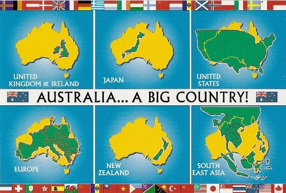 Australia size vs other countries